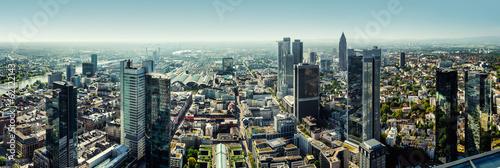 Panoramic view of Frankfurt am Main city, Germany