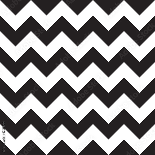 Black seamless chevron pattern Wallpaper Mural
