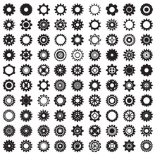 Collection Of Gear Wheels Isol...