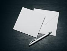 White Envelope Letter And Whit...