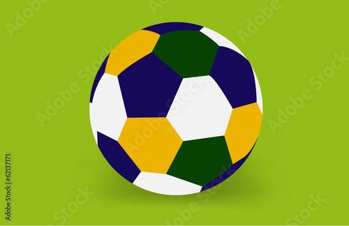 Soccer ball of Brazil 2014, vector Poster
