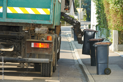 Urban recycling waste and garbage services Plakat