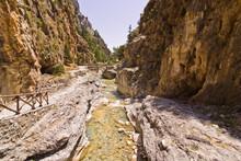 Mountain Creek Through Samaria Gorge, Island Of Crete
