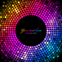 Vector Colorful Disco Lights F...