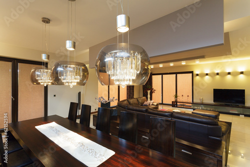 Obraz Dining room lighting - fototapety do salonu