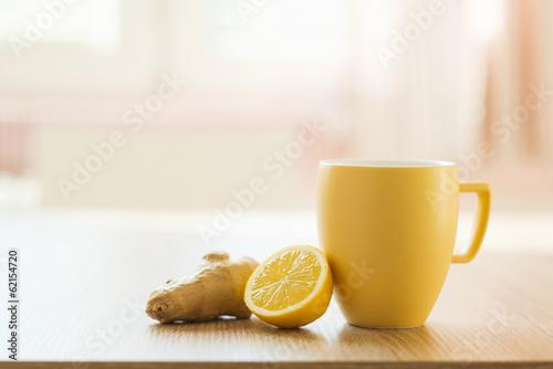 Photo  Detail of honey and lemon