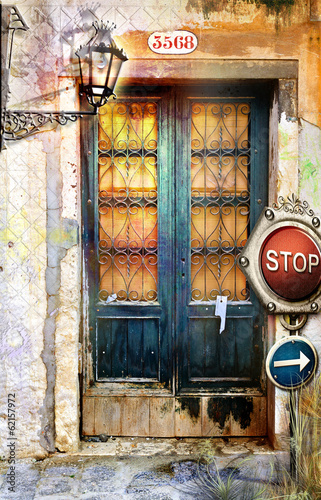 Canvas Prints Imagination Venetian old door