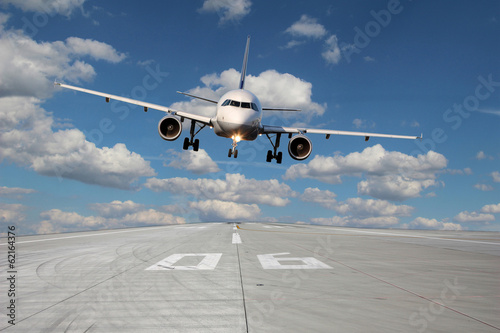 Aircraft low pass Canvas Print