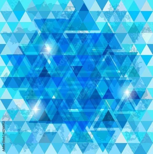 Foto op Aluminium ZigZag Blue mosaic background