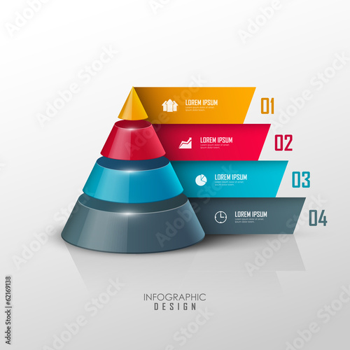 Photo  Vector infographic or web design template