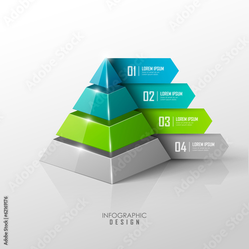 Canvas Print Vector infographic or web design template
