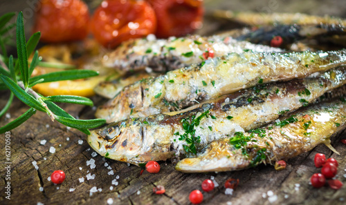 Poster Fish Grilled sardine