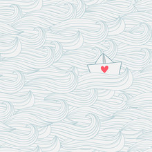 Seamless Pattern With Waves An...