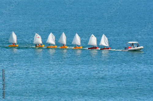 Small sailing boats
