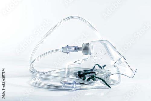 Fotografie, Obraz Monochrome image of an oxygen mask.