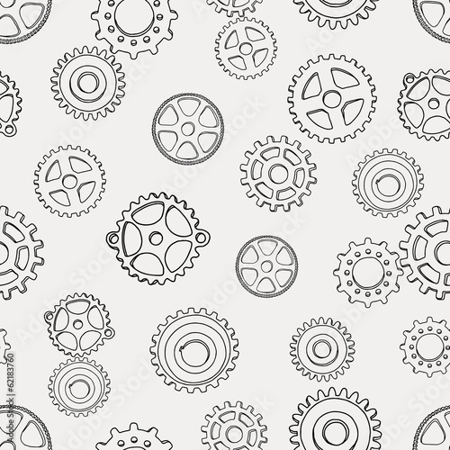 pattern with gears Poster