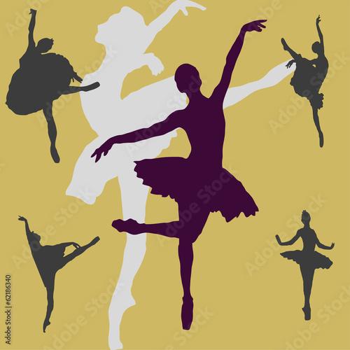 Papiers peints Affiche vintage Dancing ballerina background