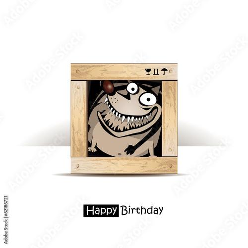 Photo  Happy Birthday dog gift card smile
