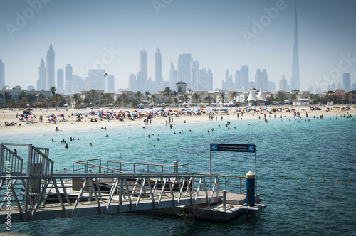 Persian gulf and Dubai beach, UAE Poster