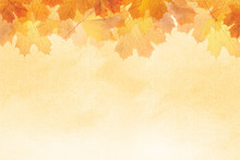 Textured Autumn Leaf Background With Room For Copy Space.