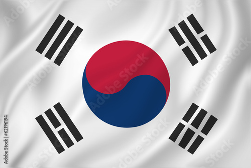 Fotografía  South Korea flag