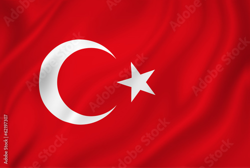 Fotografia  Turkish flag