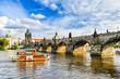 canvas print picture Charles Bridge in Prague, Czech Republic
