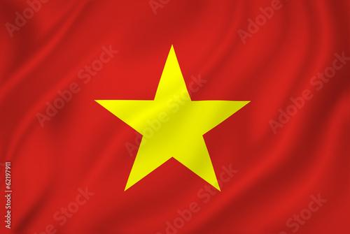 Fototapeta Vietnam vlajka