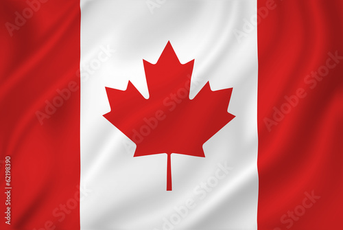 La pose en embrasure Canada Canada flag