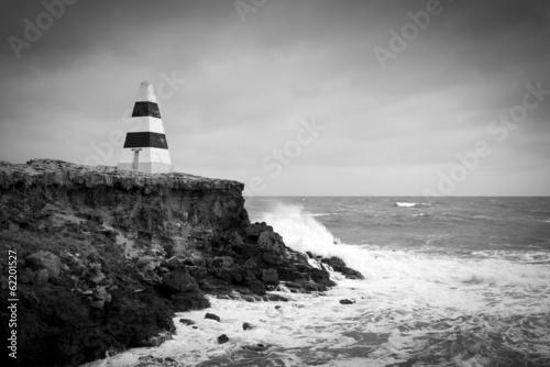 Obraz premium Burzliwe morza czarno-białe