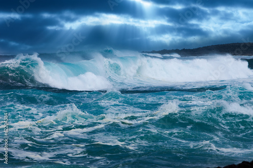 Door stickers Water Ocean Wave