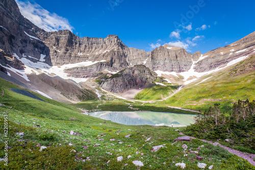 Aluminium Prints Dark grey Cracker lake - Glacier national park