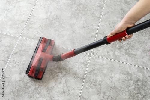 Fotografía floor steam cleaning