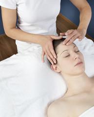 Fototapeta na wymiar calming facial at the spa