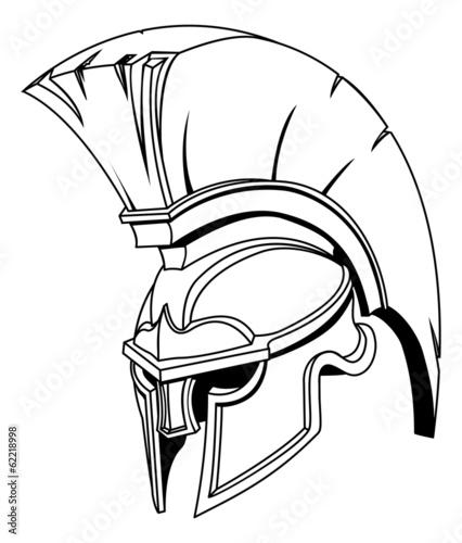illustration of spartan roman greek trojan or gladiator helmet buy