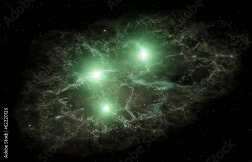Fototapety, obrazy: Nebula and stars. Elements of this image furnished by NASA.