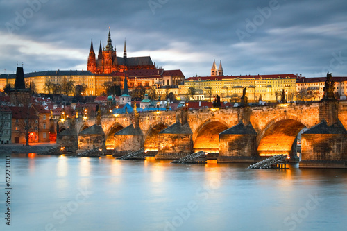 Poster Prague City castle in Prague