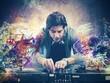 Leinwandbild Motiv DJ playing music