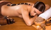 Beautiful Brunette In A Massag...