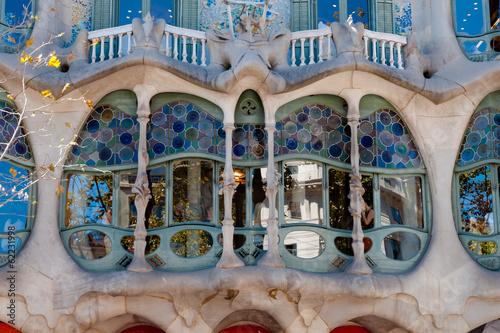 Photo  Casa Batllo fachade main window at Barcelona