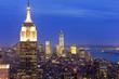 Empire State building and Manhattan, New York, USA