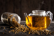 Hot Chamomile Tea In A Clear T...
