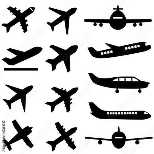 Planes in black Wallpaper Mural