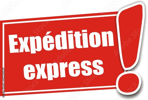 81c940f3b23d0b étiquette expédition express - Buy this stock vector and explore ...