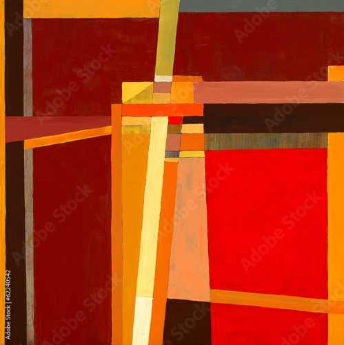 a modernist abstract painting Poster
