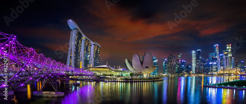 Photo Stands Singapore Landscape of Singapore city