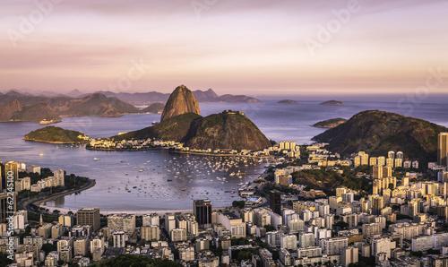 Garden Poster Brazil Sunset over Rio de Janeiro ,Brazil
