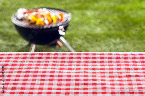 Aluminium Prints Grill / Barbecue Empty picnic table background