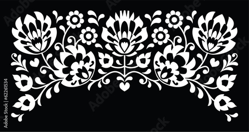 polish-floral-folk-white-embroidery-pattern-on-black-background