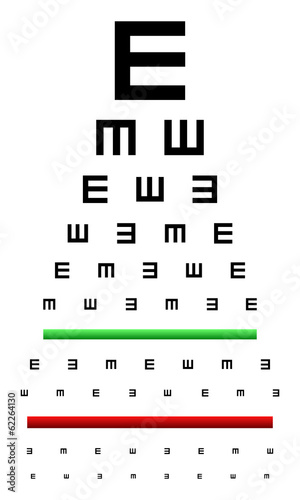 Snellen Eye Chart Test Used In Young Children Buy This Stock